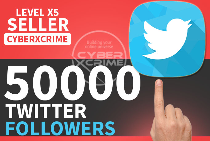 give you 50000+ twitter follower to your account ||No Dropped|| ||Real Looking with bio||