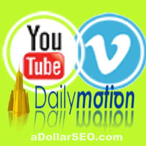 Youtube, VIMEO, DailyMotion VIEWS - VIDEO SEO PACKAGE + Instagram Video Views extra