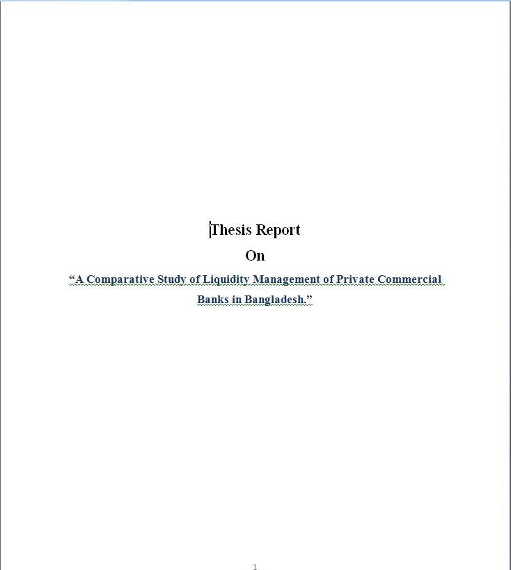 LIquidity Managing Procedure in Private Commercial Ba...