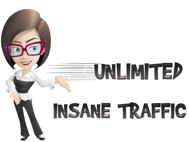 Get Unlimited Traffic to your website for 90 days