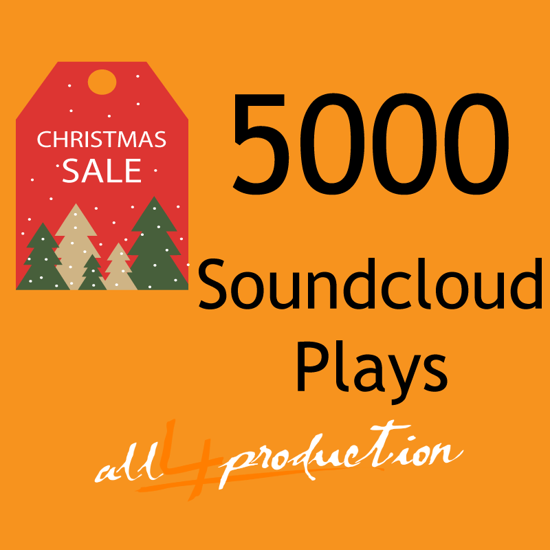 We will give you 5000 Soundcloud Plays in just 24 Hours! Max Split on 4 Tracks MEGA EXPRESS SERVICE