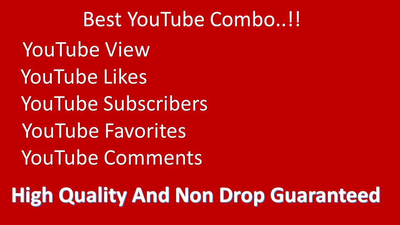Combo Offer Organic NON DROP Premium Quality YouTube promotions