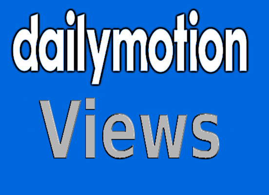 1000 instant high quality Dailymotion views