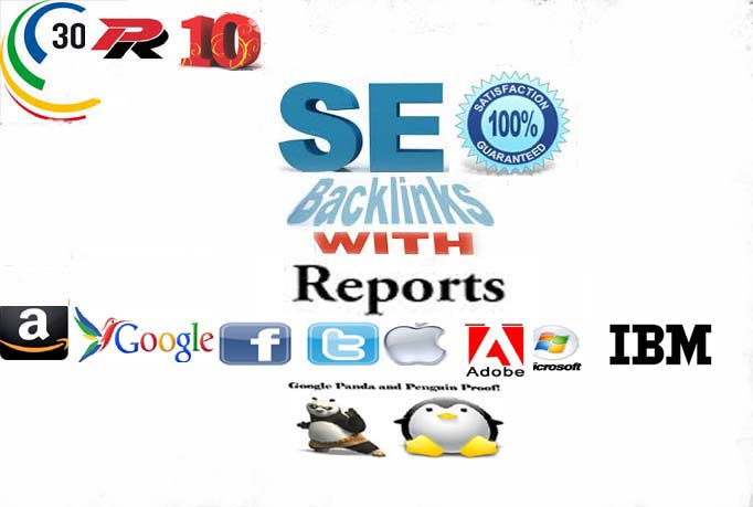 Manually develop 30 PR10 safe seo friendly backlinks with reports