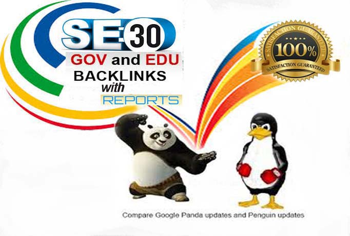 Manually develop 30 edu and gov  safe seo  friendly backlink s with reports