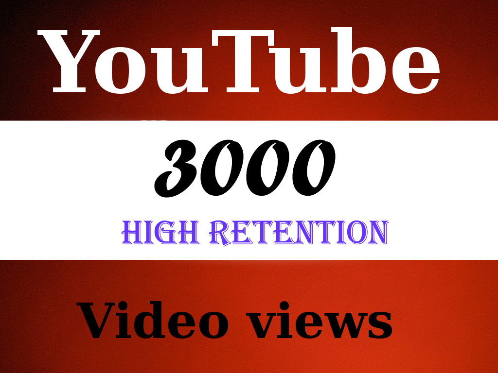Give You 3099+ NON Drop + Splitable Youtube Views