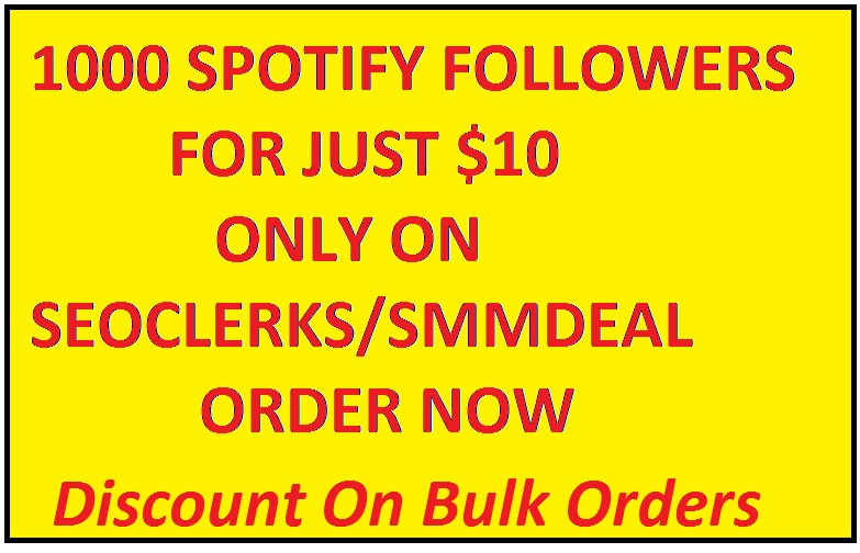 Get 1000 Spotify Followers