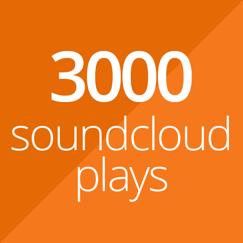 3000 SoundCloud plays