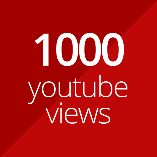 1000 high quality YouTube views