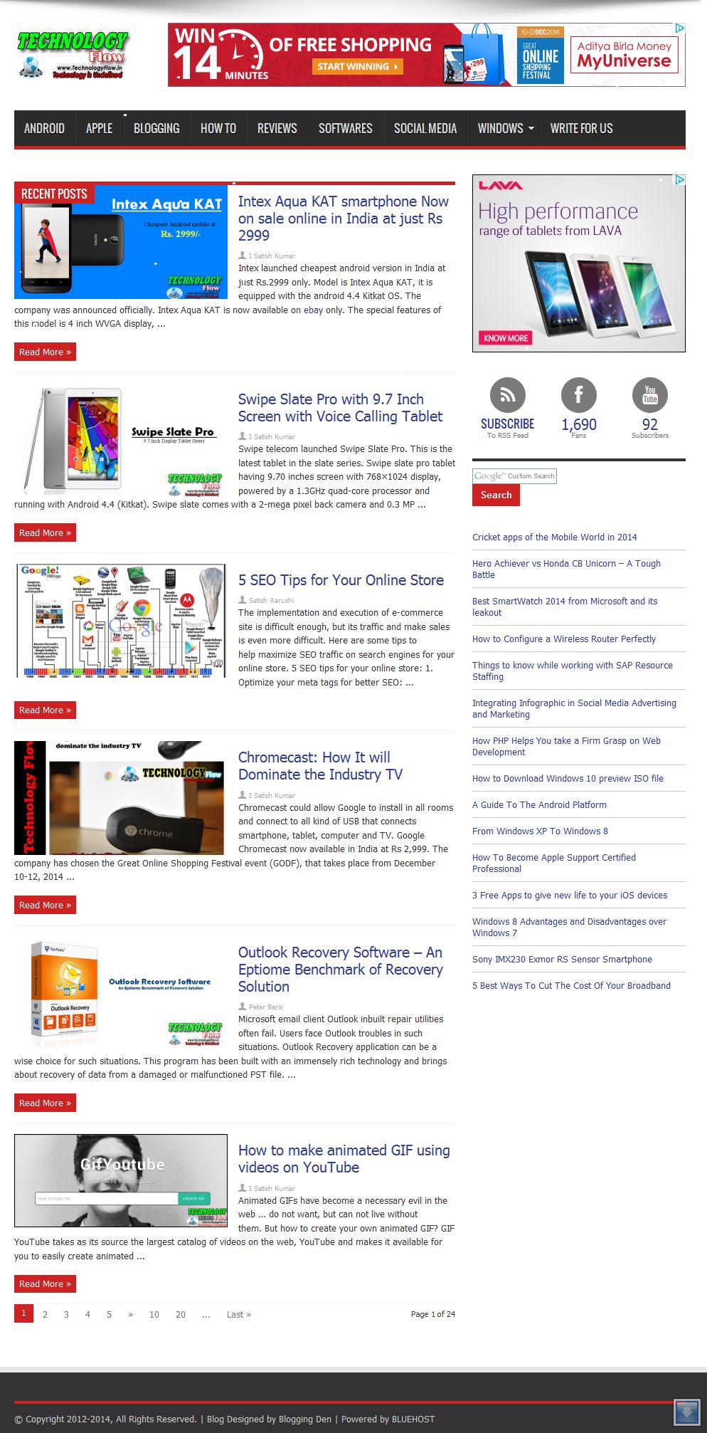 TechnologyFlow Sponsored Blog Review for