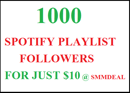 1000 spotify playlist followers