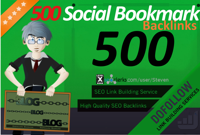 500 Social Bookmarks with backlinks for your website and keywords