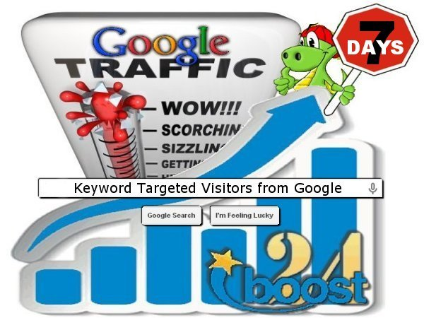 Daily keyword targeted visitors from Google for 7 day...