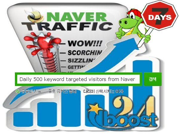 Daily keyword targeted visitors from Naver for 7 days