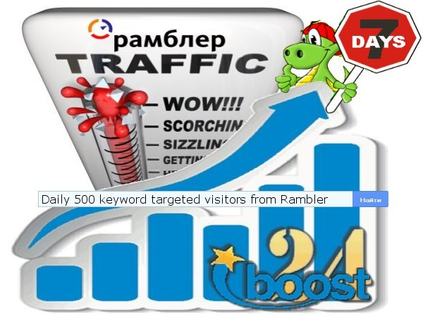 Daily keyword targeted visitors from Rambler for 7 days