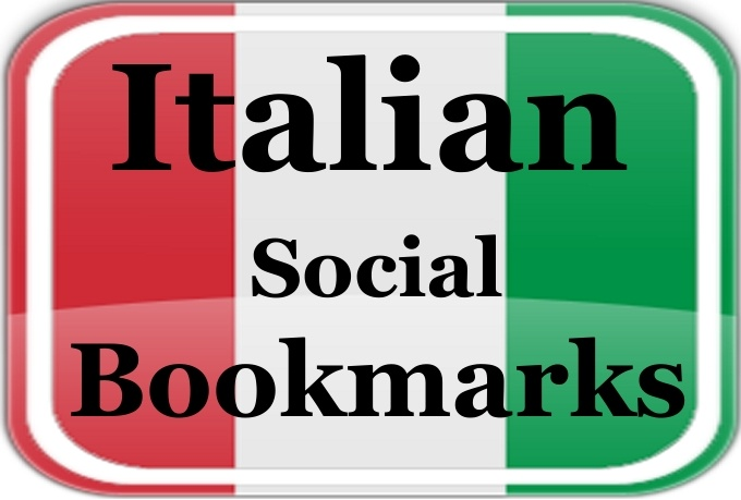do 10 high PR Italy Social Bookmarking submissions