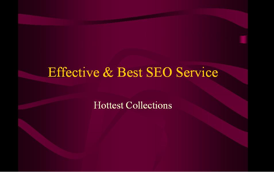 Effective & Best SEO Service