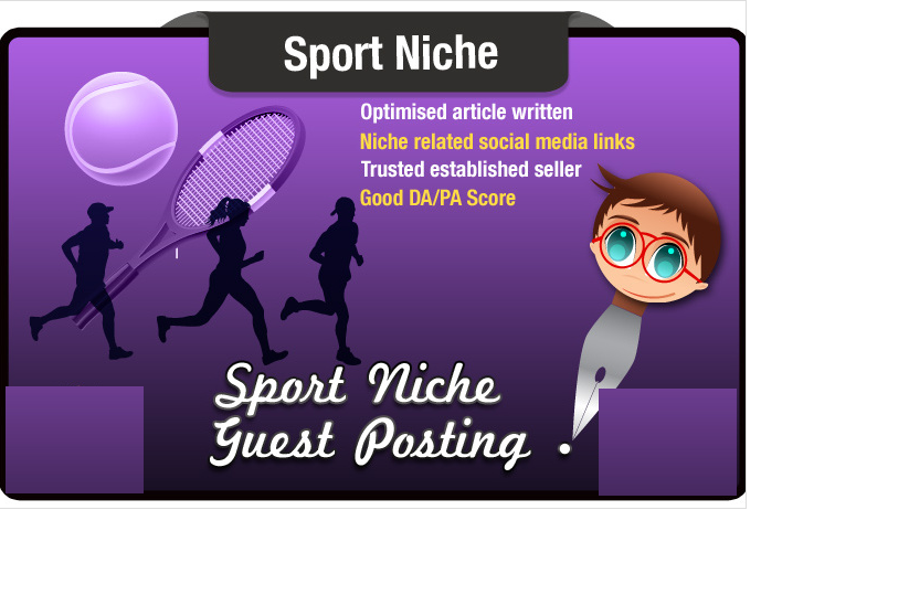 write and Guest Post an SEO optimized Sports Related Article PA42 DA31 Site