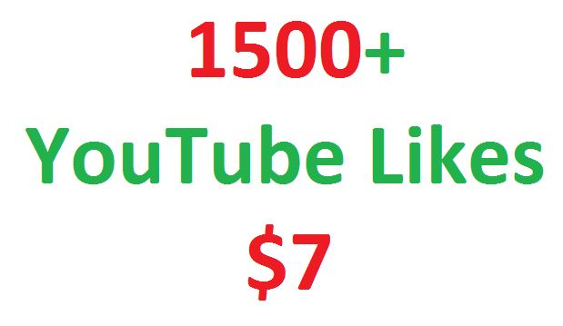 I will give you real 1500+ youtube video likes in your video