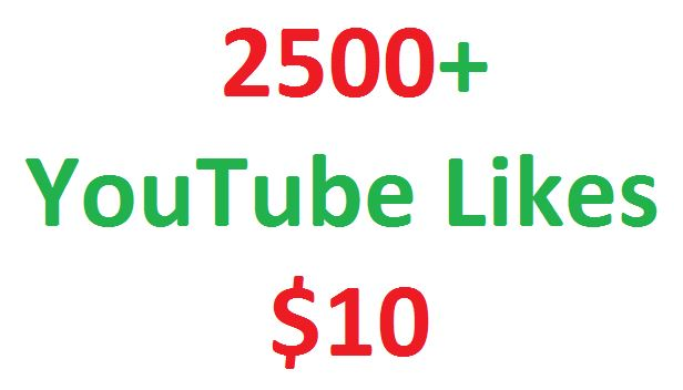 I will give you real 2500+ youtube video likes in your video for
