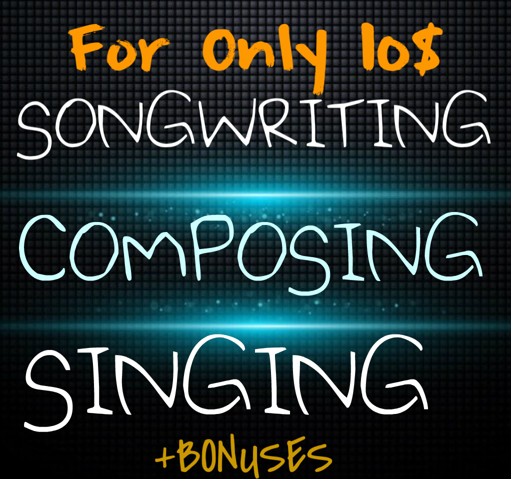 Songwriting, composing and singing package