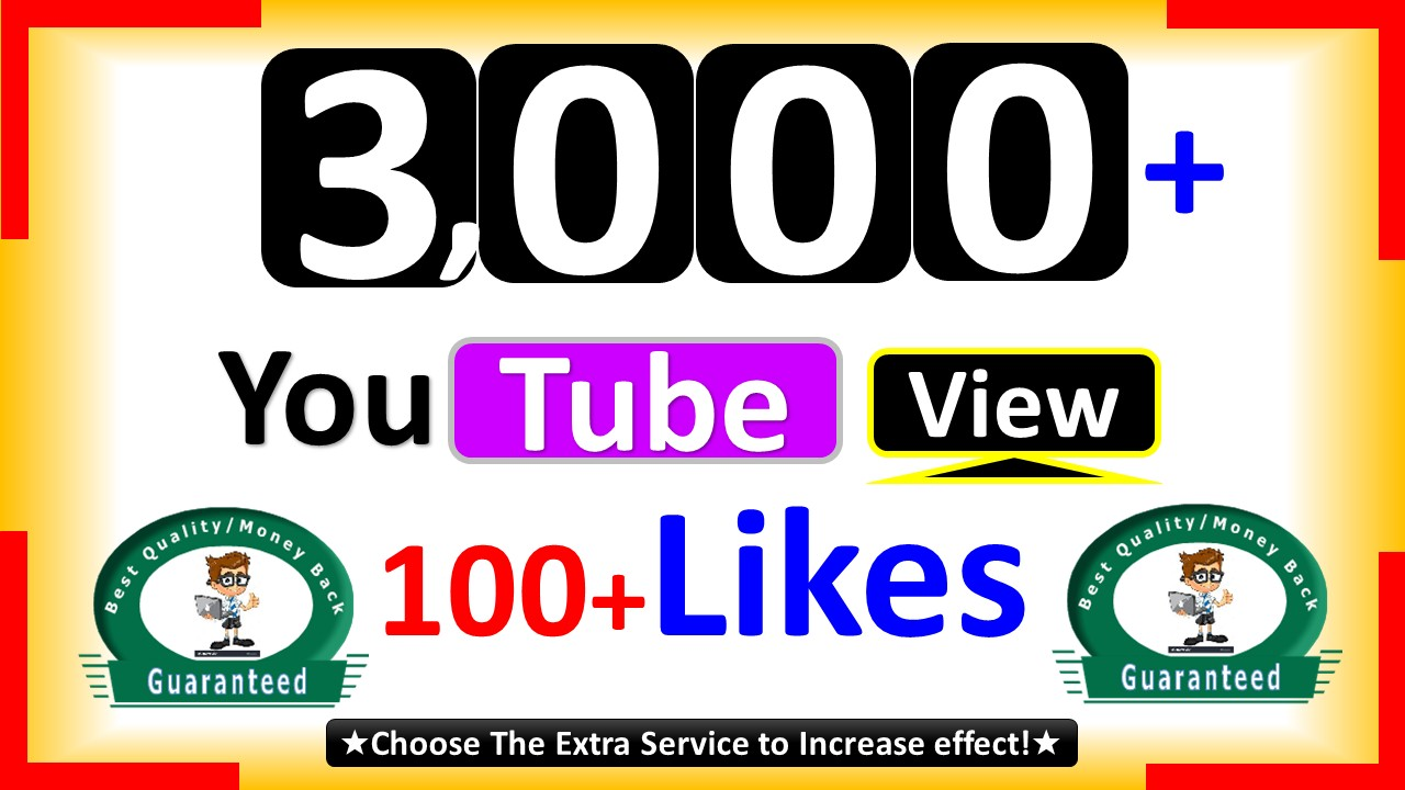 Instant Start 3,099+ Video Views, Non Drop & 100+Likes, Real & Active User