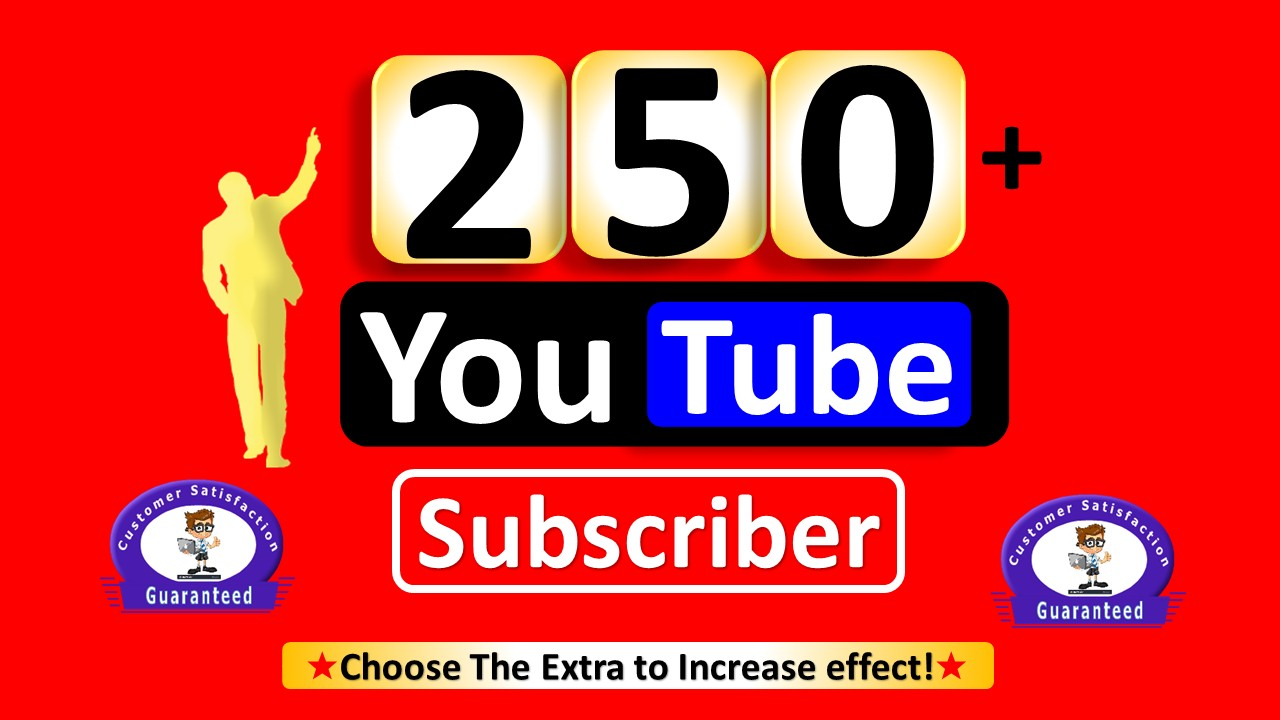Instant 250+ Sub-scriber, Real Active Permanent Users Guaranteed  (Refill if Drop)