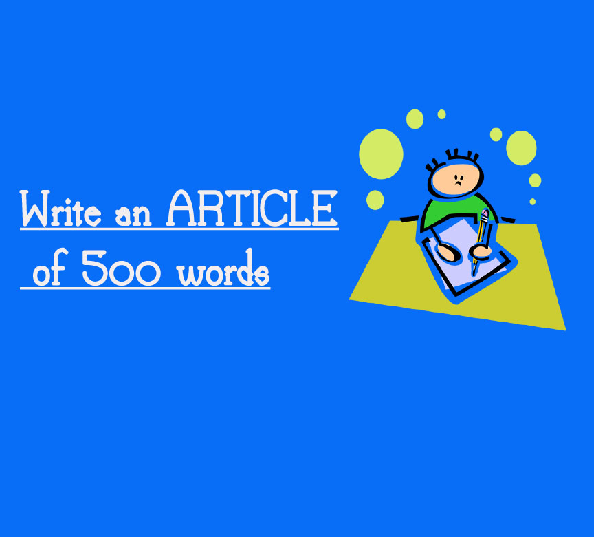 write an ARTICLE of 500 words
