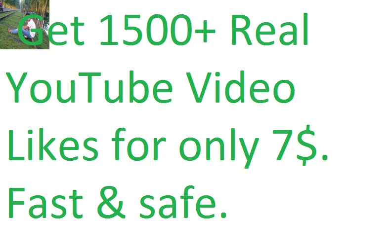 I will give you 1500+ youtube video likes in your YouTube video only