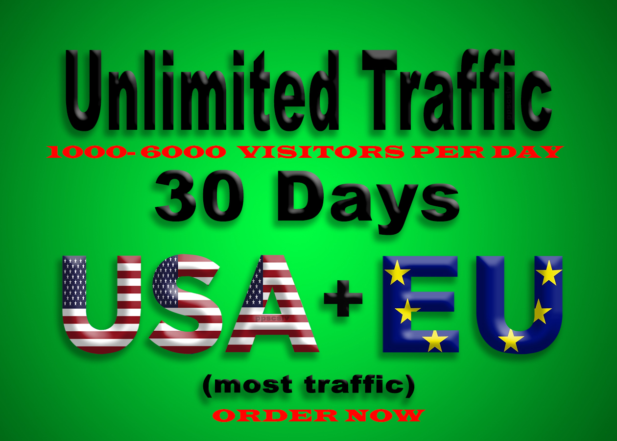 800-1000 daily visitors for 30 days provide unlimited, , adsense safe, social traffic from USA