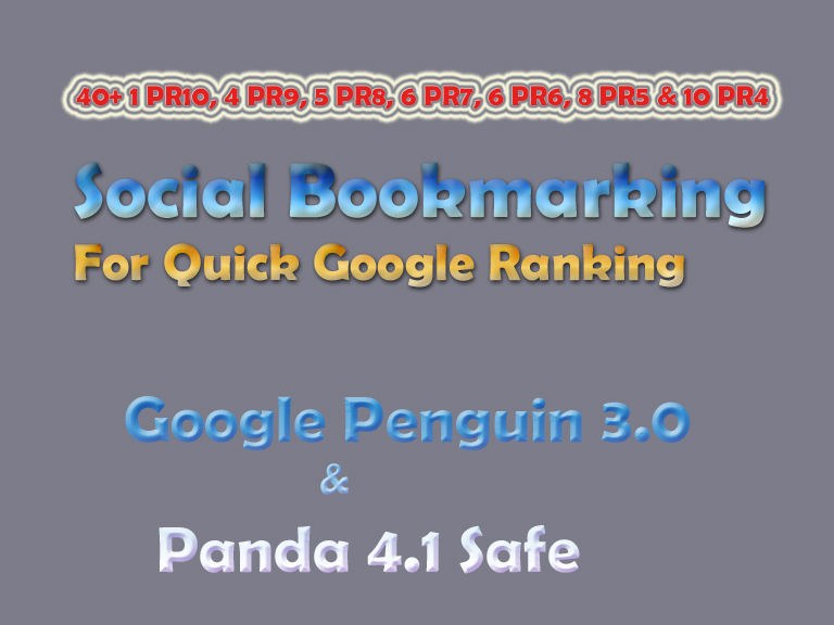 Panda Safe Manual 45 TOP Premium Social Bookmarking from Moz DA100 - DA40