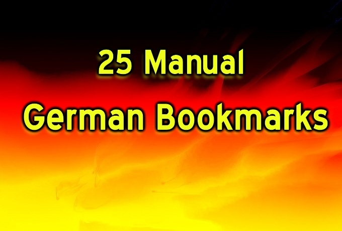 do 25 German high PR Social bookmarking submission