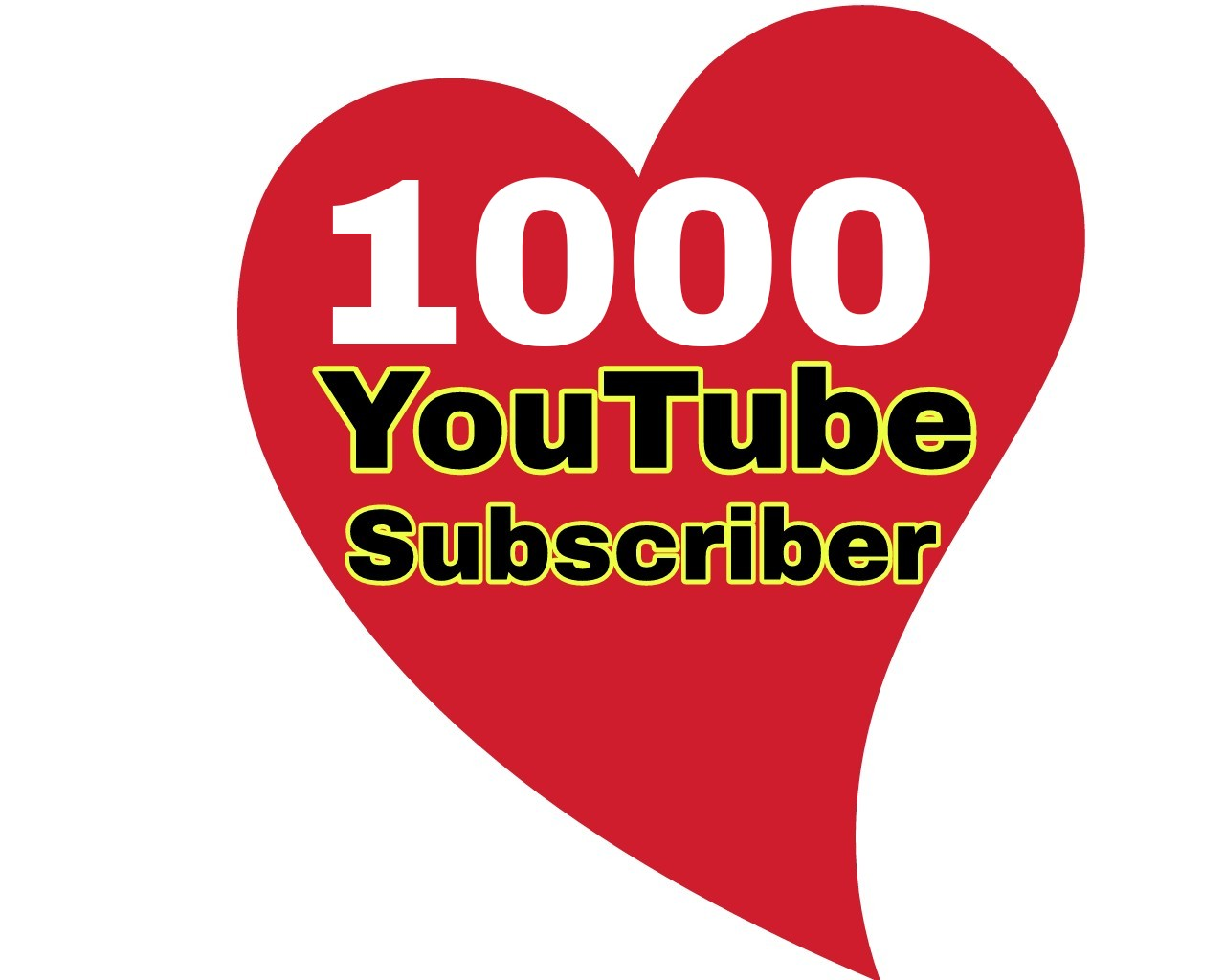 1000 high quality and active YouTube Sub'Cribers' Non drop super fast