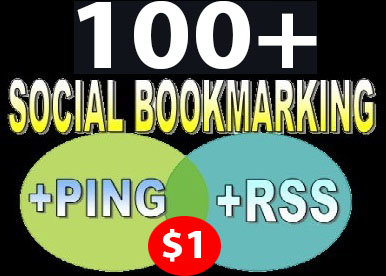 Social Bookmark to your link  100 unique  bookmarking Sites Drip Feed