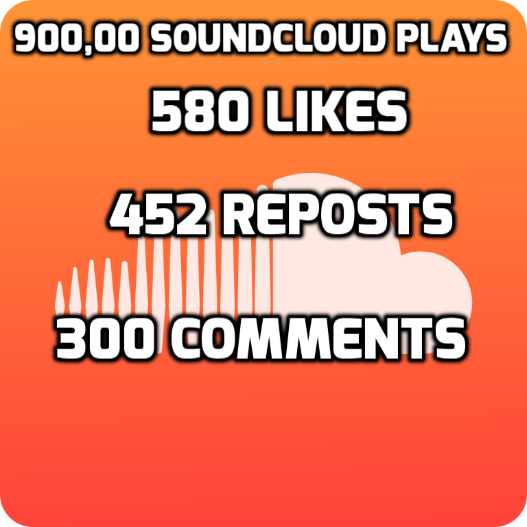 900,000 QUALITY SOUND-CLOUD PIays With 300 Comments 580 Likes and 452 Repost