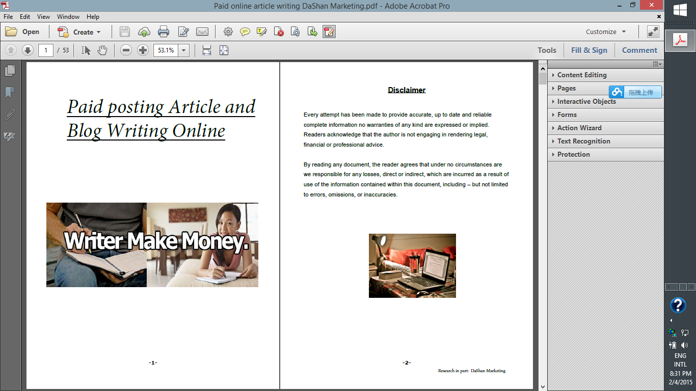Paid article writing sites eBook