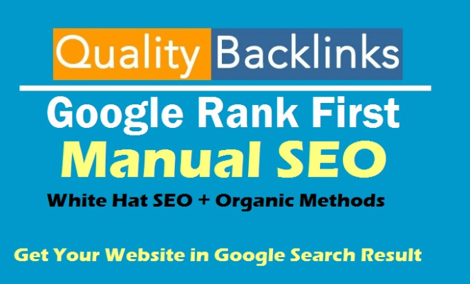 Rank You 1st In Google, GUARANTEED First Page Rankings With My SEO Service+Traffic