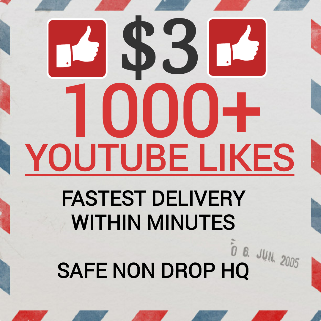 FAST 1000 NON DROP HQ Youtube video Likes