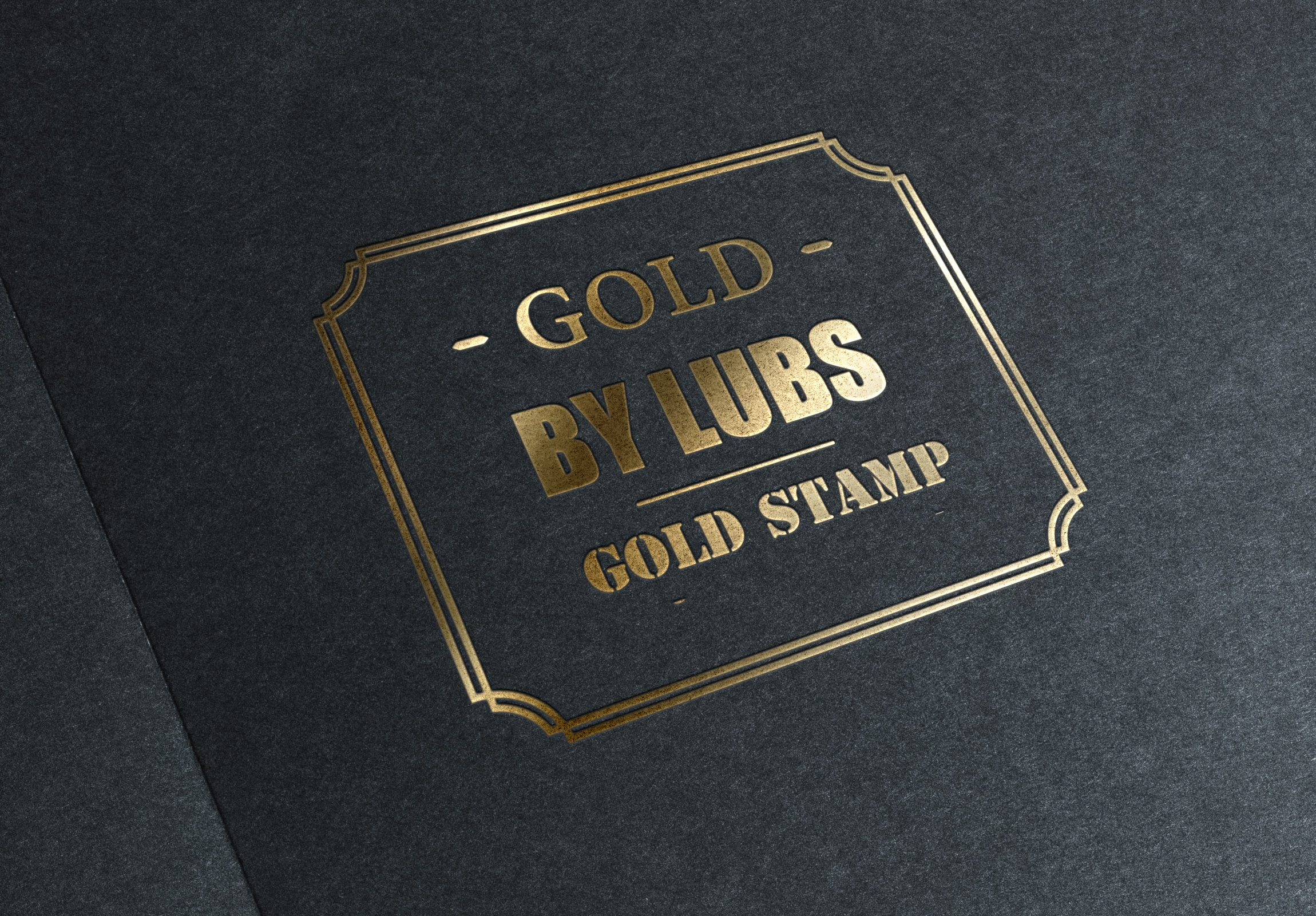 Convert your text/logo into Gold stamping just