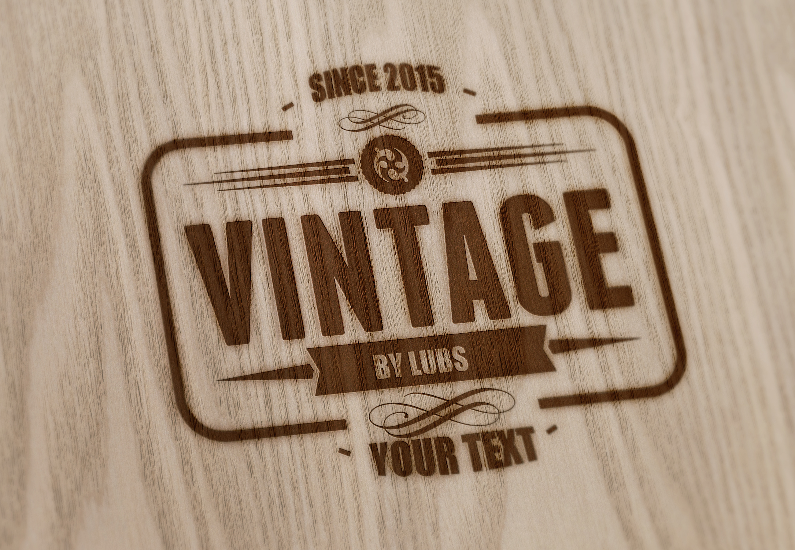 Convert your text logo into wood vintage just