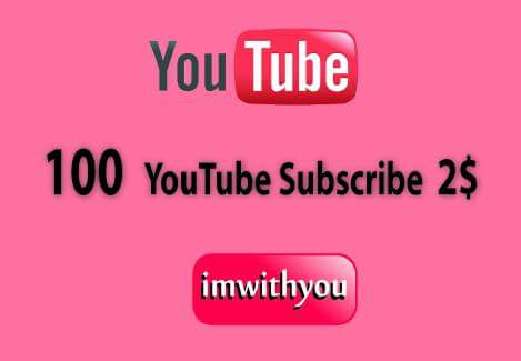 NON DROP 100 Youtube Subscribers  Only  24-48 Hour
