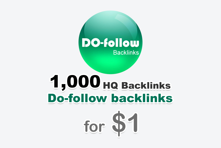 1000 do-follow backlinks