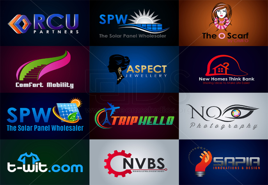 Design 5 Awesome  Logos+ favicon