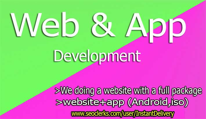 I Will Android App,  Iso App,  Full Website,  Development Only