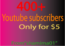 400+ real Youtube subscribers in your video only