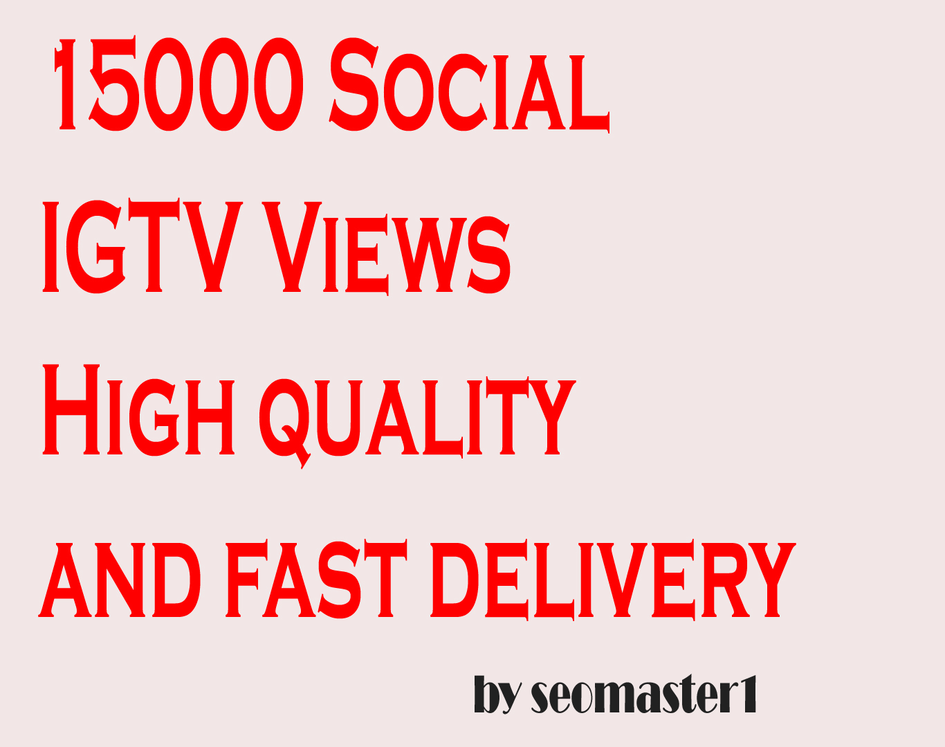 HQ Real and Non Drop instant 15000 social TV video views services professionally