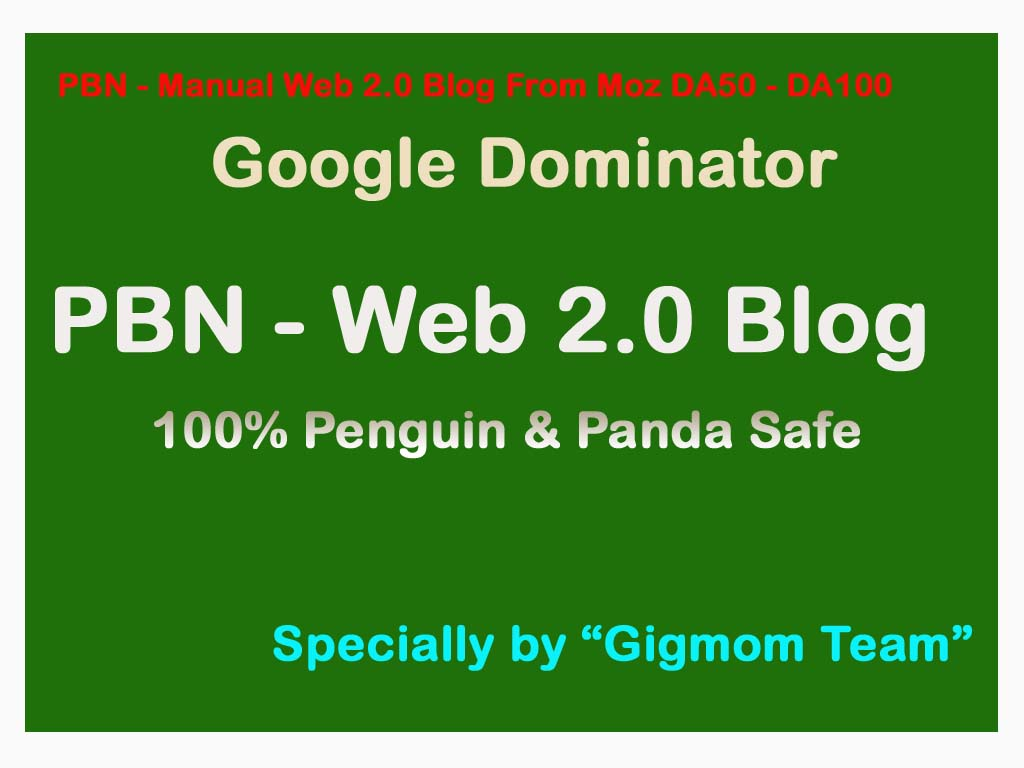 30 Web 2.0 PBNs - DA60-100 Contextual Links - Safe and Organic to Rank Higher
