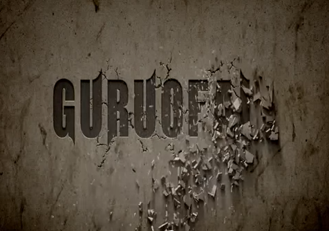 make an wall crumbling logo or text opener video promoting your business logo or name