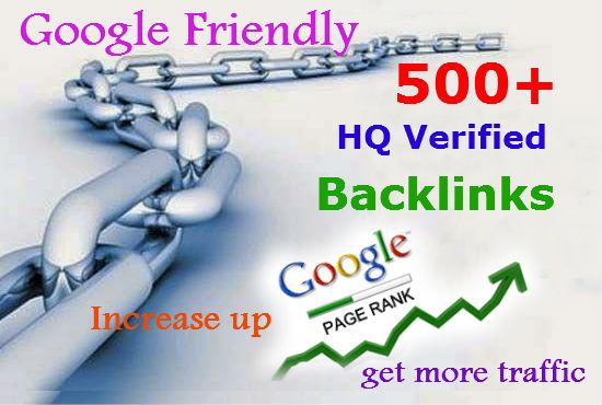 I will do 500 Verified Google & Yahoo Friendly SEO Backlinks for any URL