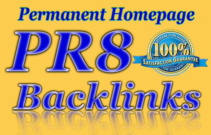 PR8 Homepage Blogroll Backlink